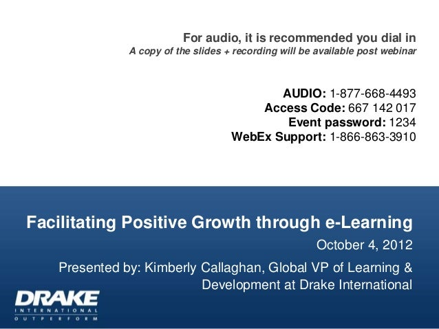 Facilitating Positive Growth through e-Learning
