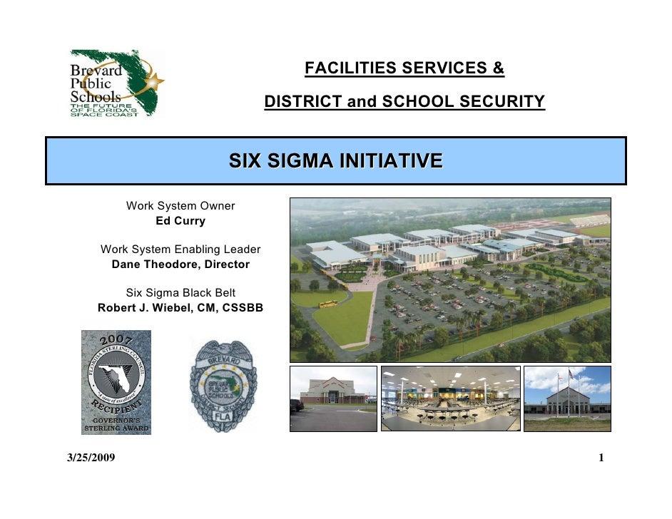 Facilities Baldrige Initiative Mbb 3 25 09