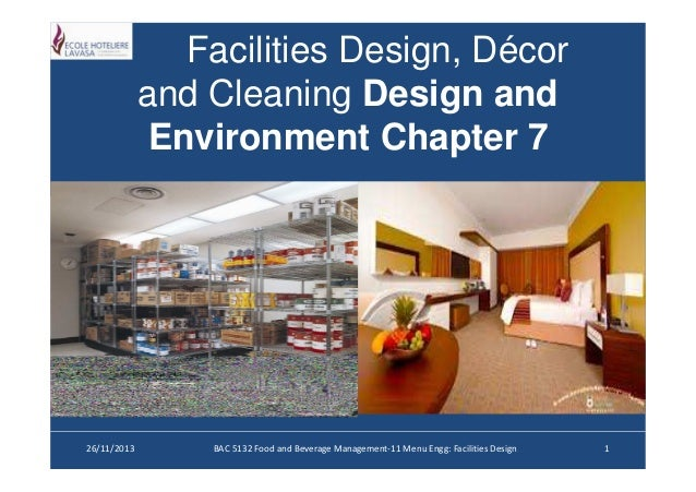 Facilities design, décor and cleaning [compatibility mode]