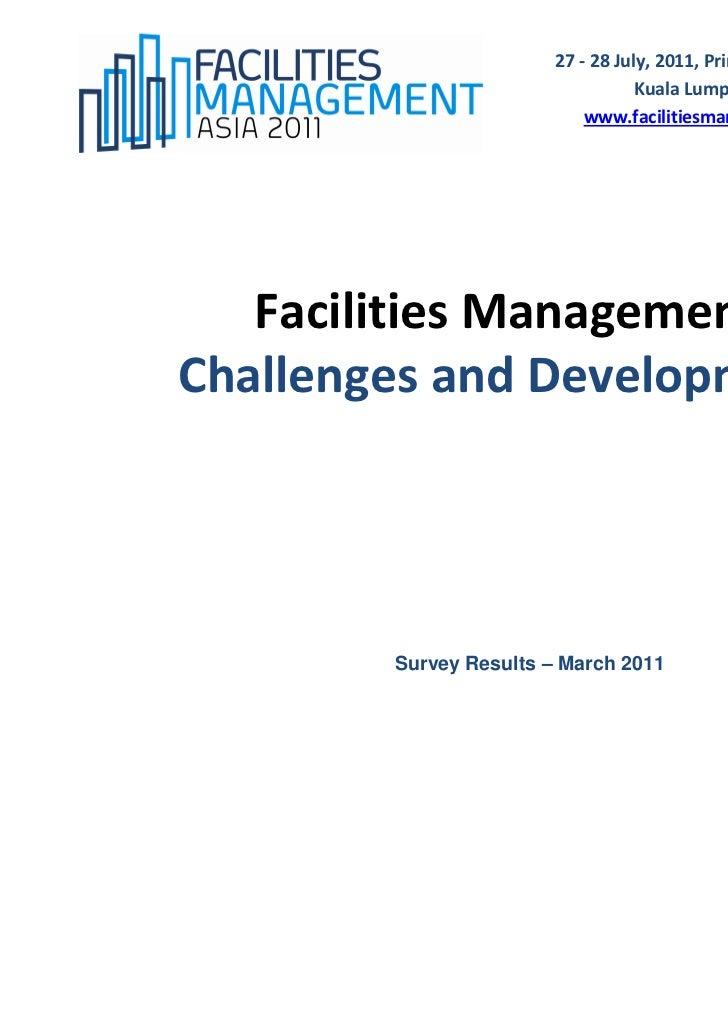 Facilities management asia survey 2011