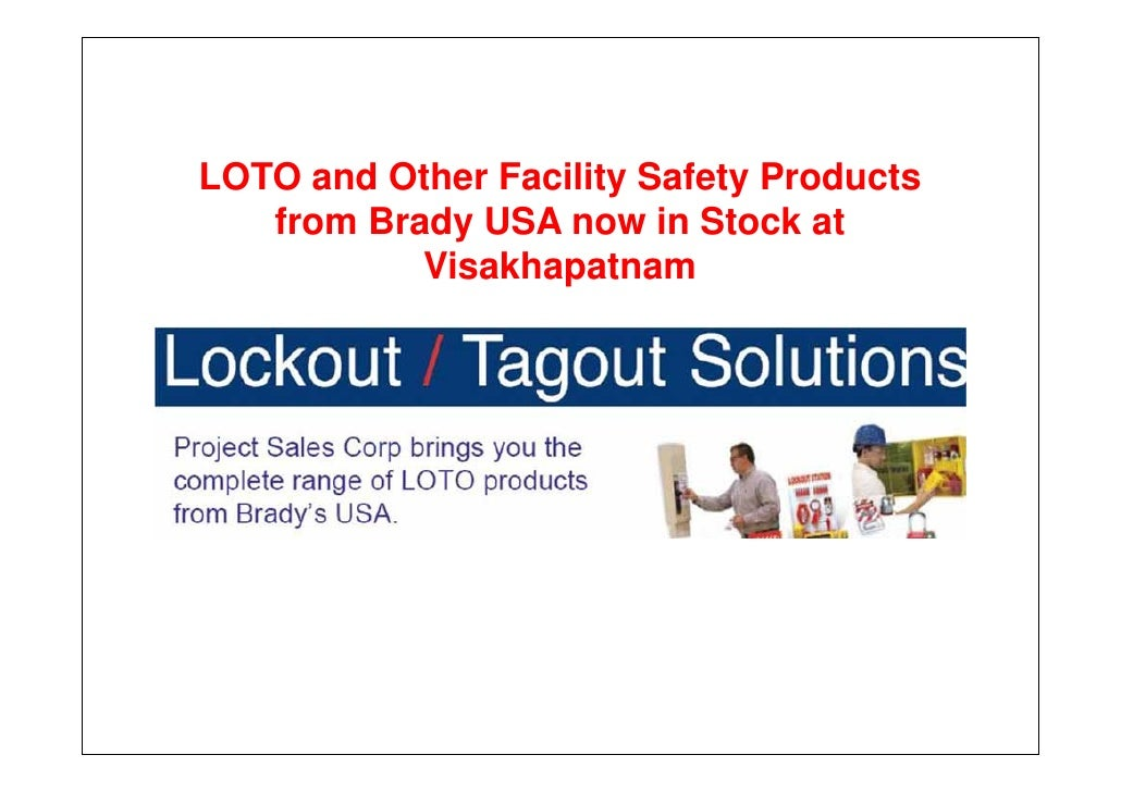 Facility safety products from brady, now in visakhapatnam