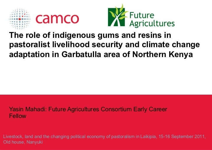 The role of indigenous gums and resins in pastoralist livelihood security and climate change adaptation in Garbatulla area...