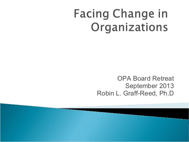 Facing Change in Organizations