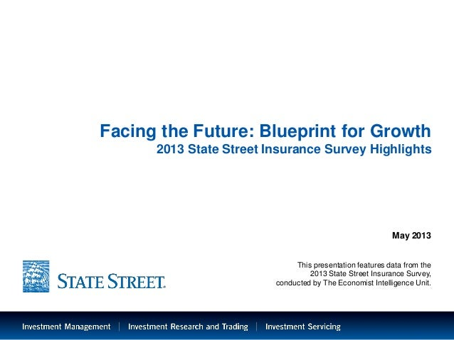 LIMITED ACCESSFacing the Future: Blueprint for Growth2013 State Street Insurance Survey HighlightsMay 2013This presentatio...