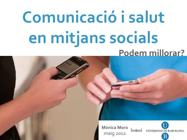 Comunicació i salut en mitjans socials