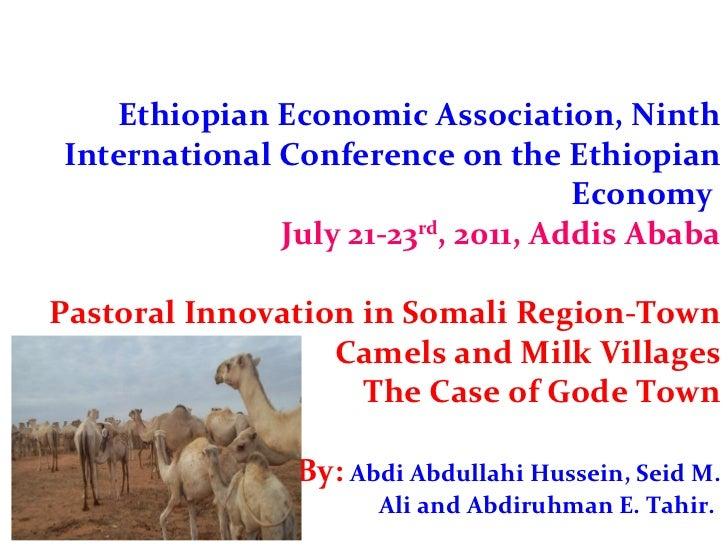 Ethiopian Economic Association, Ninth International Conference on the Ethiopian Economy  July 21-23 rd , 2011, Addis Ababa...