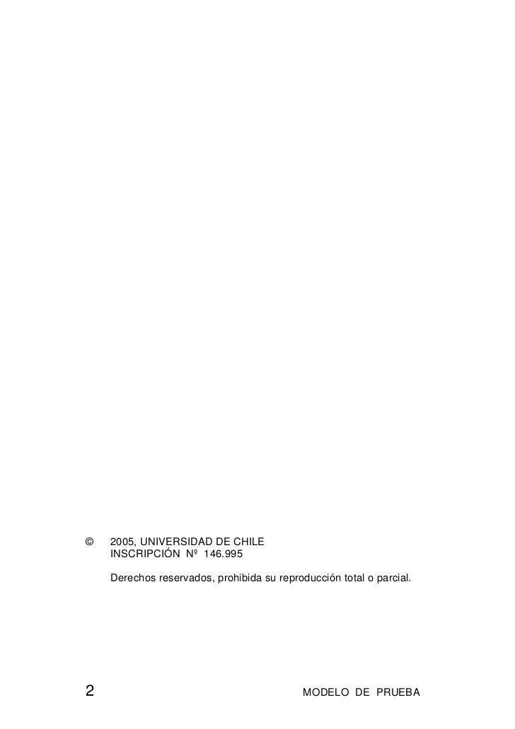 ©   2005, UNIVERSIDAD DE CHILE    INSCRIPCIÓN Nº 146.995    Derechos reservados, prohibida su reproducción total o parcial...