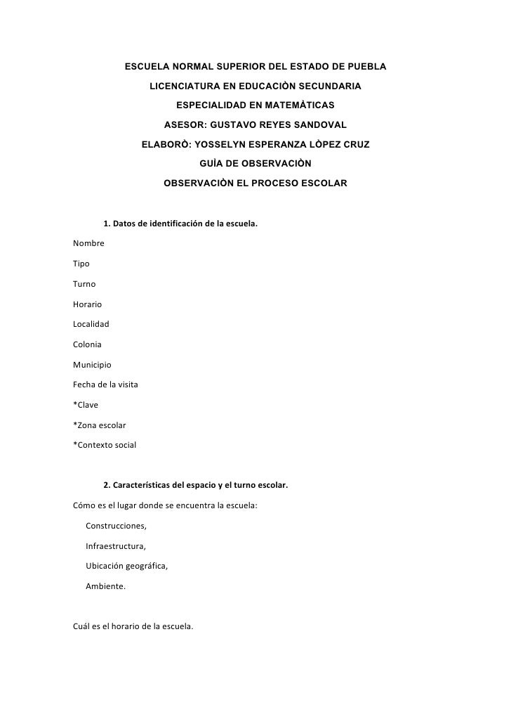 ESCUELA NORMAL SUPERIOR DEL ESTADO DE PUEBLA                        LICENCIATURA EN EDUCACIÒN SECUNDARIA                  ...