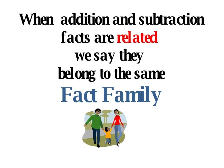 math worksheet : fact family : Related Addition And Subtraction Facts ...