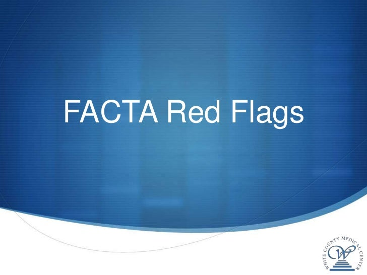 Facta red flags