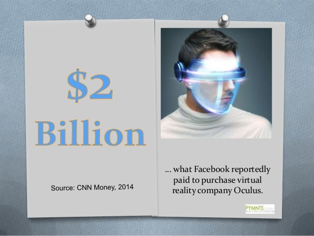 … what Facebook reportedly paid to purchase virtual reality company Oculus.