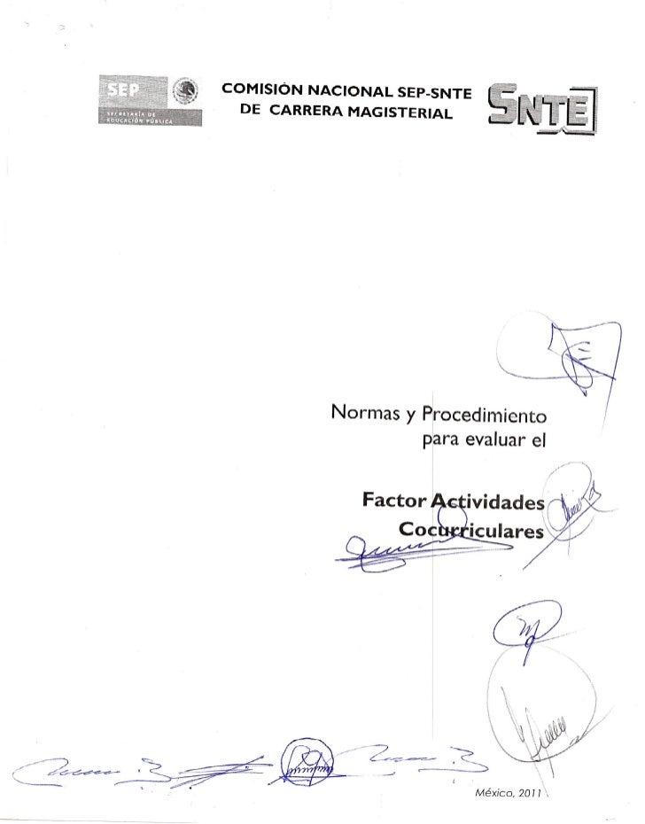 Evaluacion del Factor actividades cocurriculares