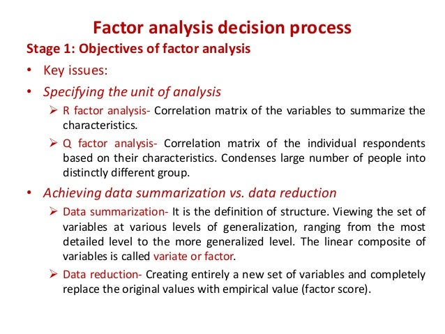 objectives and purpose of factor analysis Strategic planning describes the process a business uses to determine how it can best meet its objectives and carry out its mission  purpose of a swot analysis.