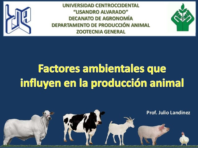 Factores ambientales que afectan la produccion animal 2014