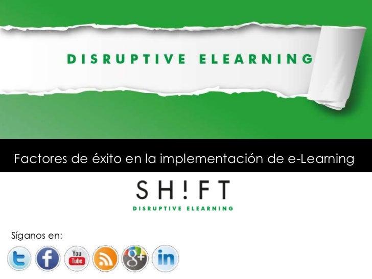 Factores de exito en la implementación de eLearning
