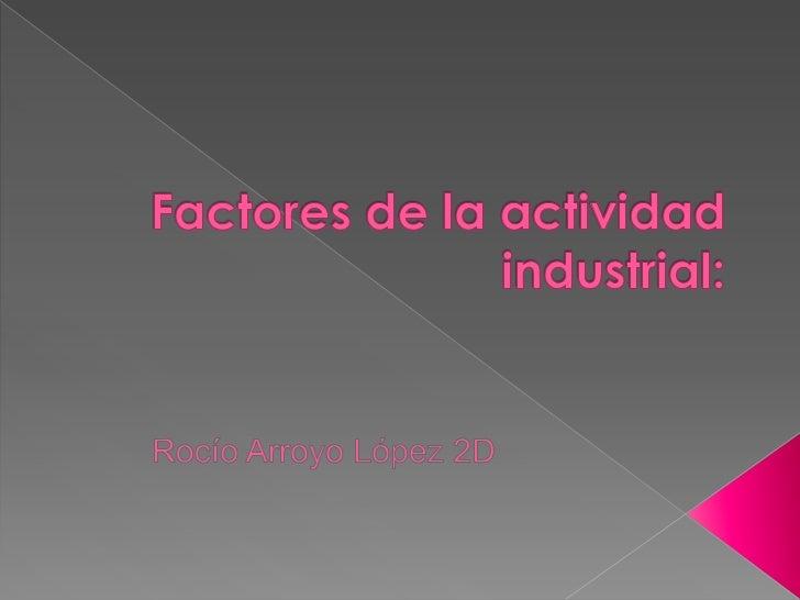 Factores de la actividad industrial