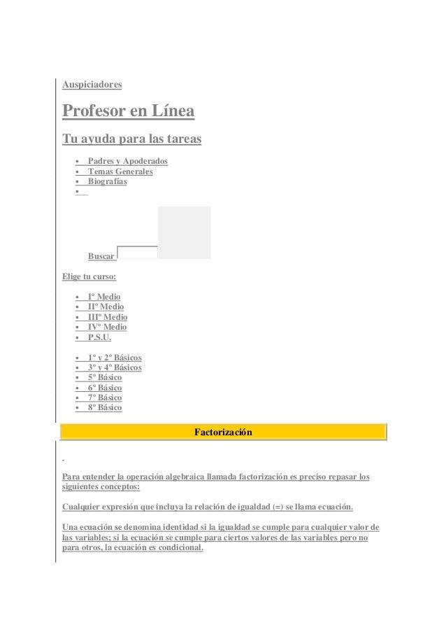 Auspiciadores Profesor en Línea Tu ayuda para las tareas • Padres y Apoderados • Temas Generales • Biografías • Buscar Eli...
