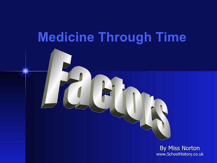 Medicine Through Time Factors By Miss Norton www.SchoolHistory.co.uk