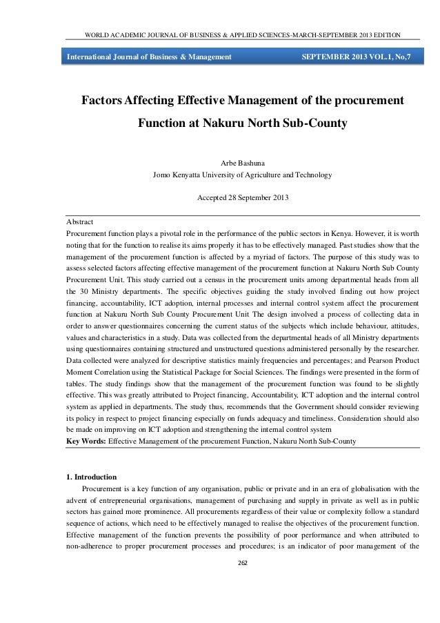 Factors affecting effective
