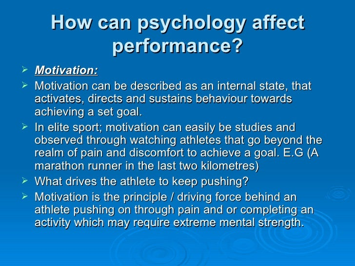 Core 2 Factors affecting performance Psychology
