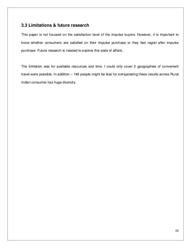 Buying behavior research paper