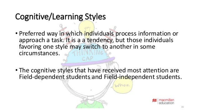 cognitive style and learning style