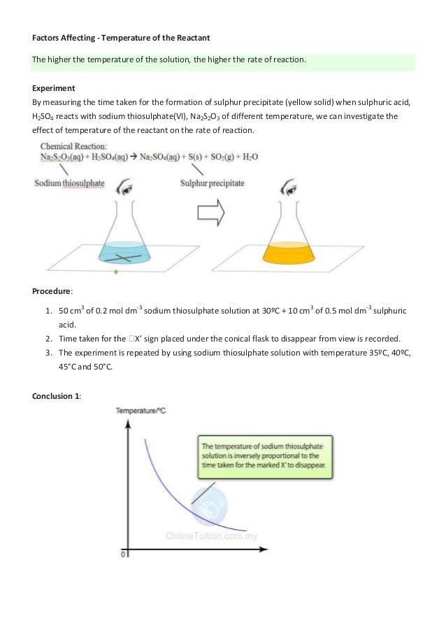 How does temperature affect the rate of a reaction?