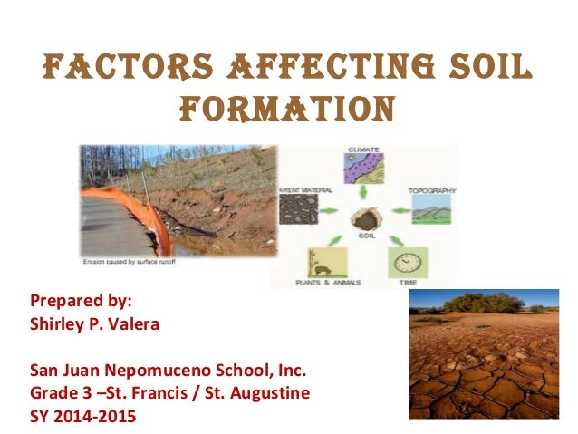 Factors affecting soil formation for Soil research impact factor