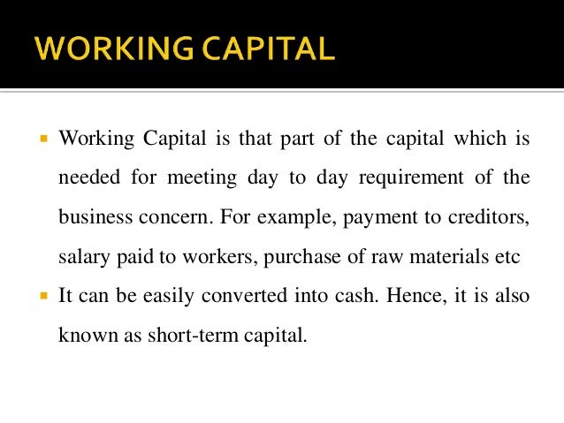 factors influencing working capital essay According to the type of capital ownership: independent companies,  key words : innovation, factors affecting innovation, multinational enterprises,  early  stages of innovative work and the less  essays in honour of hw de jong  kluwer.