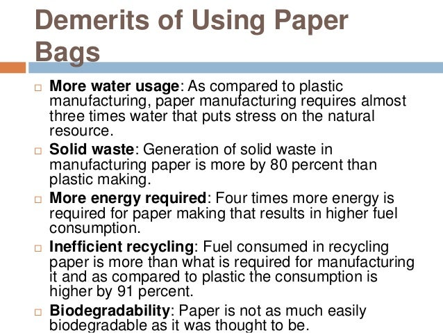 disadvantage of plastic bags essay The disadvantages of plastics: plastics bags are make of a non-renewable resource, which gives us more reasons to use recyclable shopping bags.