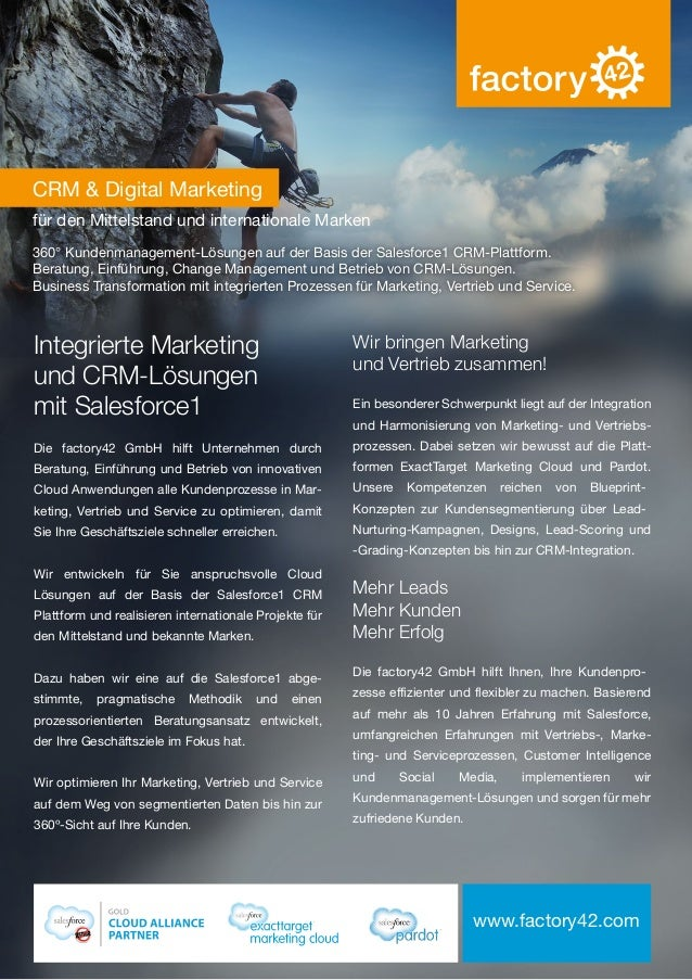 CRM & Digital Marketing für den Mittelstand und internationale Marken 360° Kundenmanagement-Lösungen auf der Basis der Sal...