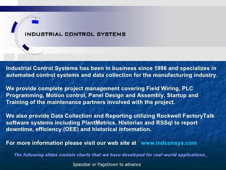 Industrial Control Systems has been in business since 1998 and specializes in automated control systems and data collectio...