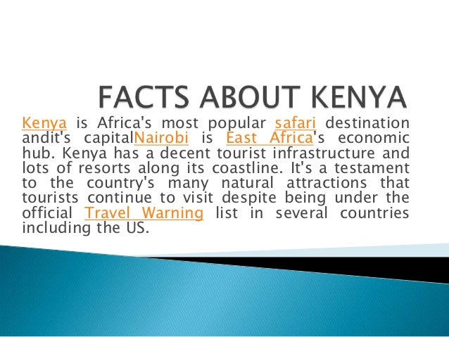 Facts About Kenya on One Of The Most Fun Things About Our Dr
