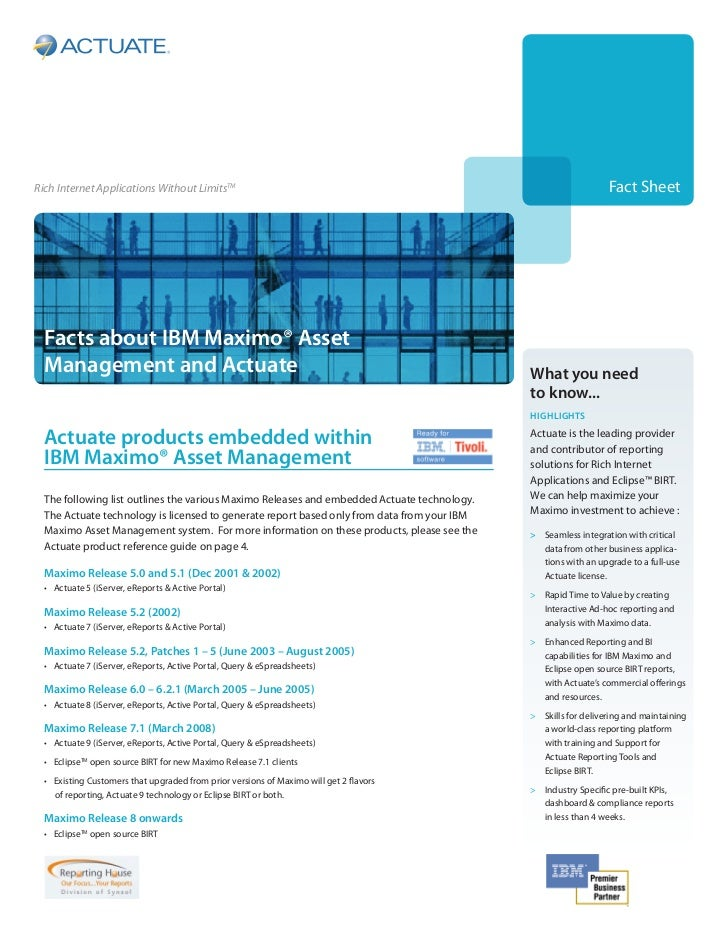 Facts about IBM Maximo® Asset
