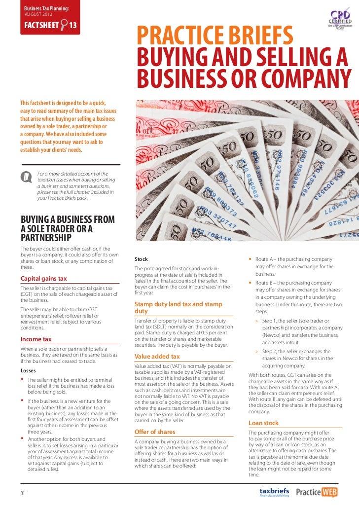 Business Tax Planning:    AUGUST 2012                                                           PRACTICE BRIEFS    FACTSHE...