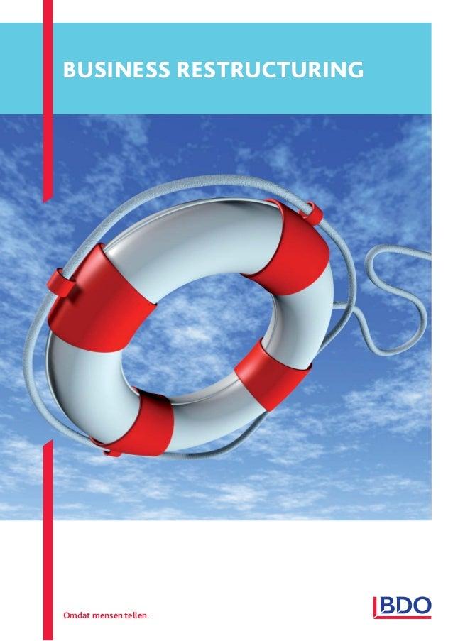 Factsheet bdo restructuring services