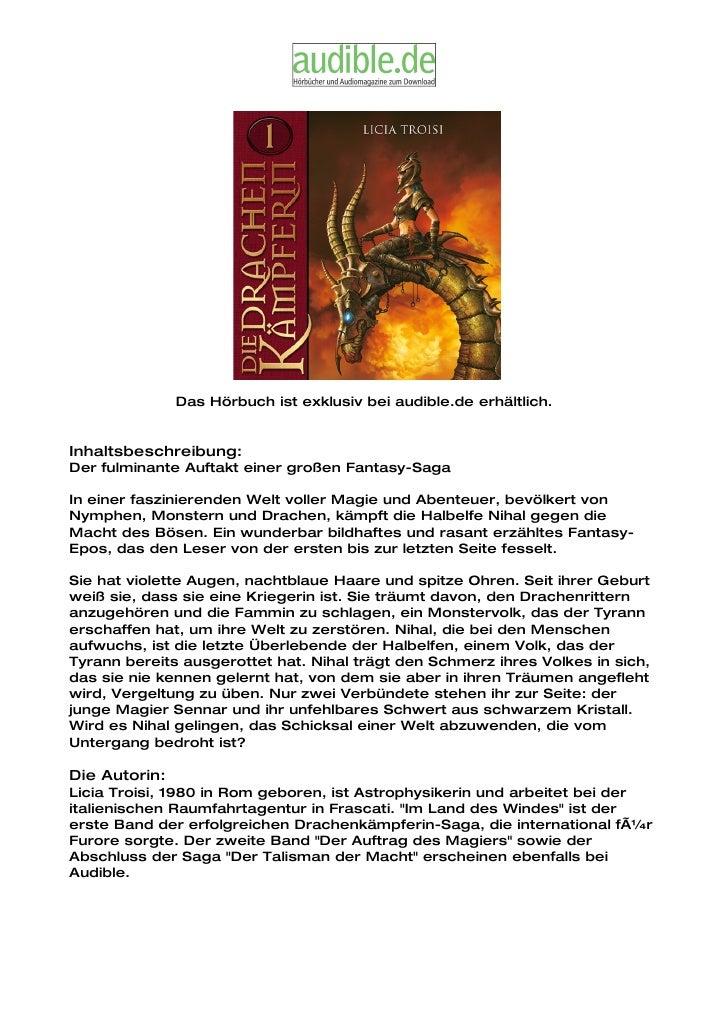 Das Hörbuch ist exklusiv bei audible.de erhältlich.   Inhaltsbeschreibung: Der fulminante Auftakt einer großen Fantasy-Sag...