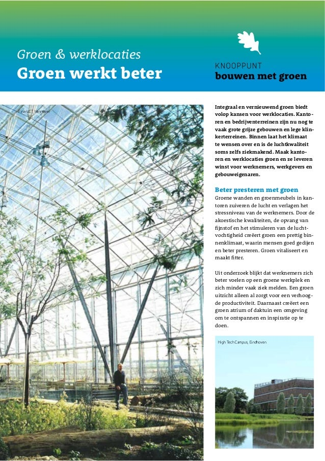 Factsheet groen & werklocaties