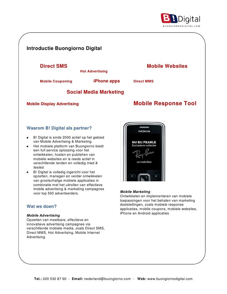 B!Digital - Factsheet Introductie B!Digital - 2010