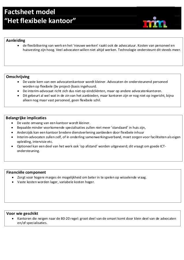 Factsheet model flexibele kantoor