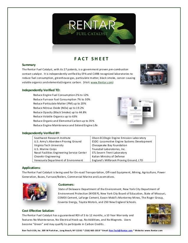 Ren-tech Green Fuel Catalyst