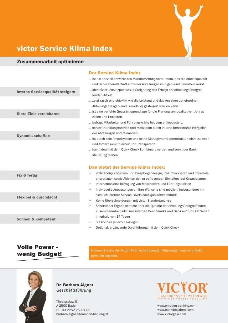 victor Service Klima IndexZusammenarbeit optimieren                                          Der Service Klima Index      ...