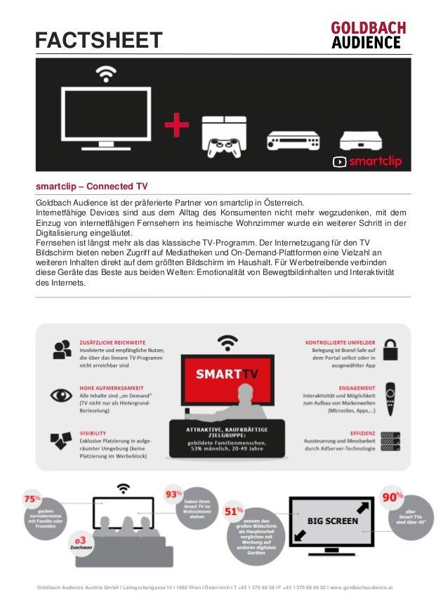 Goldbach Audience ist der präferierte Partner von smartclip in Österreich.  Internetfähige Devices sind aus dem Alltag des...