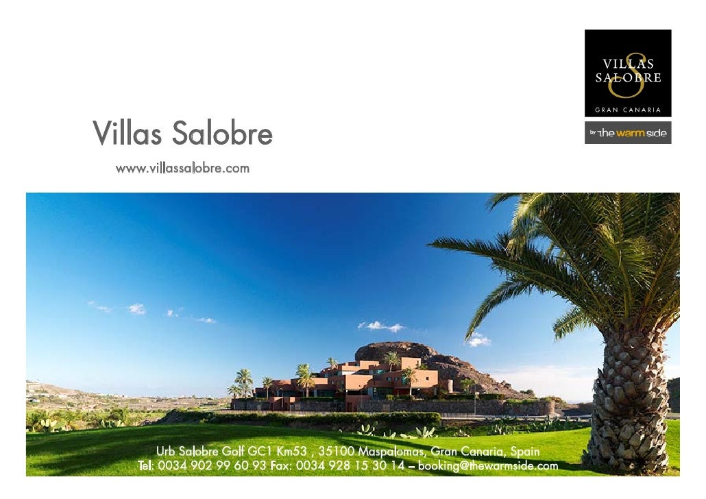 Fact Sheet Villas Salobre