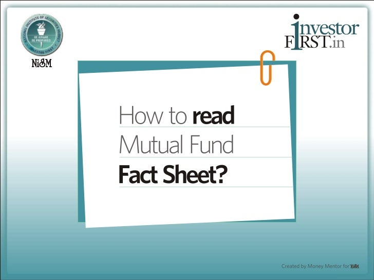 How to read a Mutual Fund Factsheet