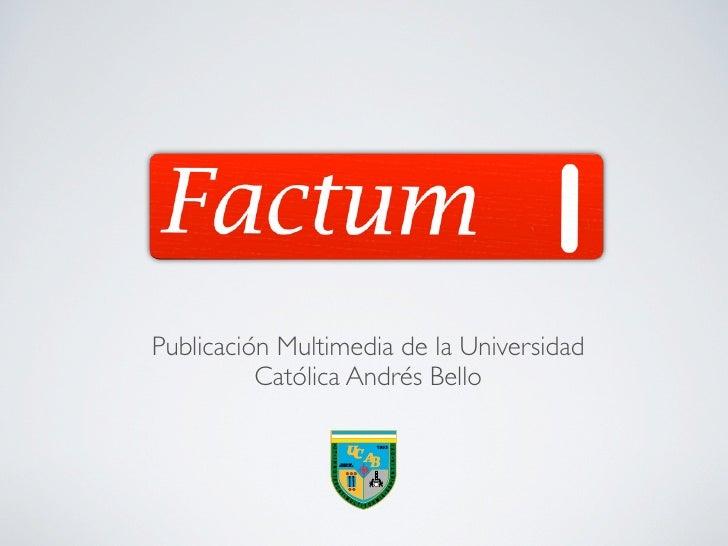 Revista multimedia Factum