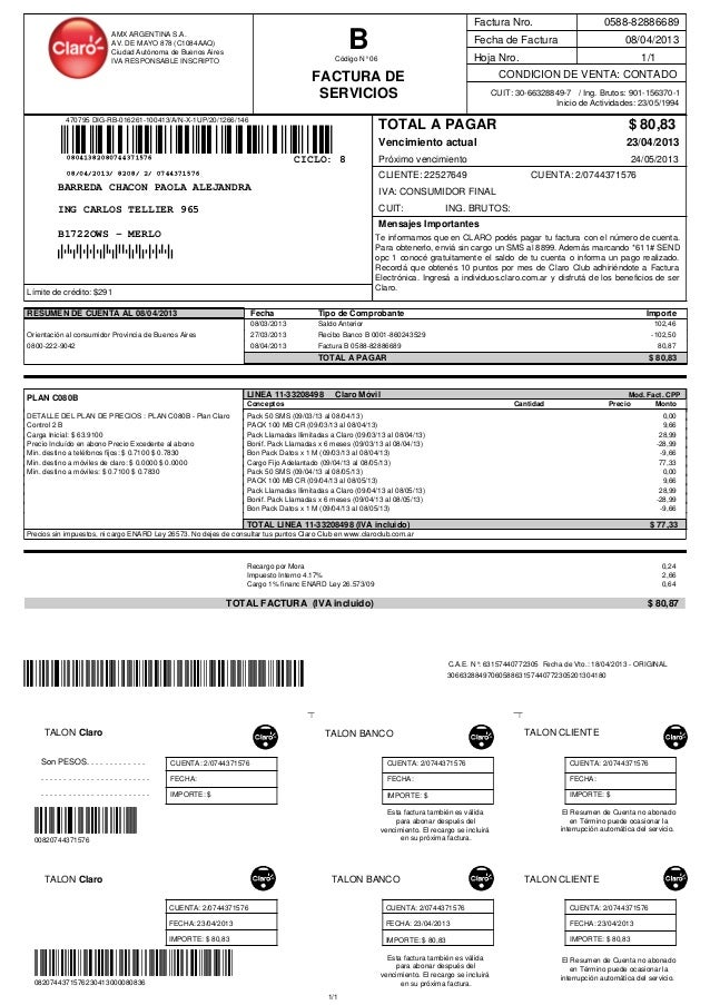 470795 DIG-RB-016261-100413/A/N-X-1UP/20/1266/1461/11/1CONDICION DE VENTA: CONTADOHoja Nro.Fecha de Factura 08/04/2013Fact...