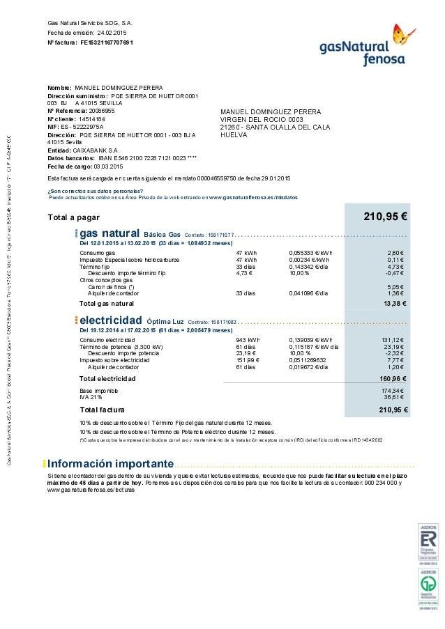 Factura fe15321167707691 for Gas natural servicios