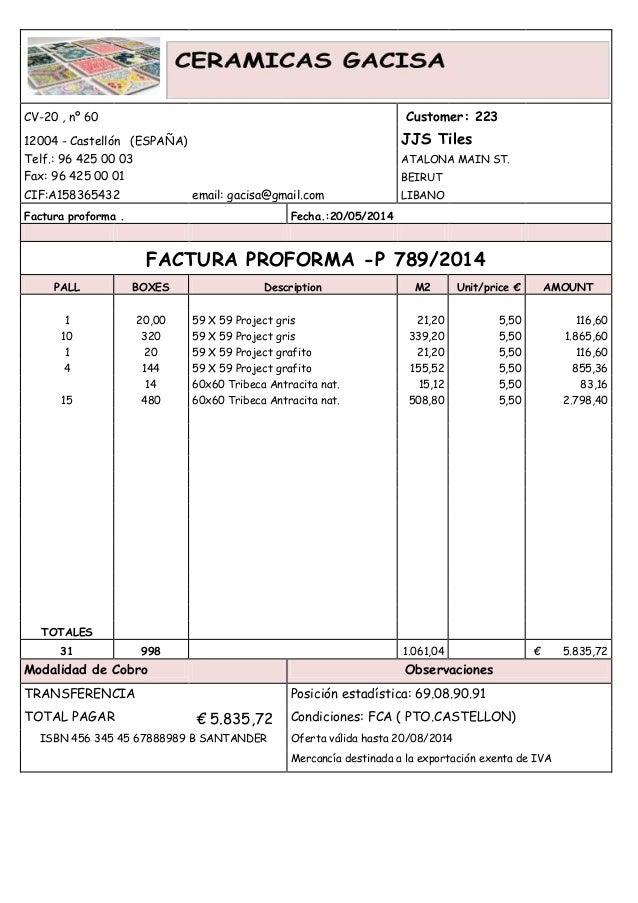 CV-20 , nº 60 Customer: 22312004 - Castellón (ESPAÑA) JJS TilesTelf ...