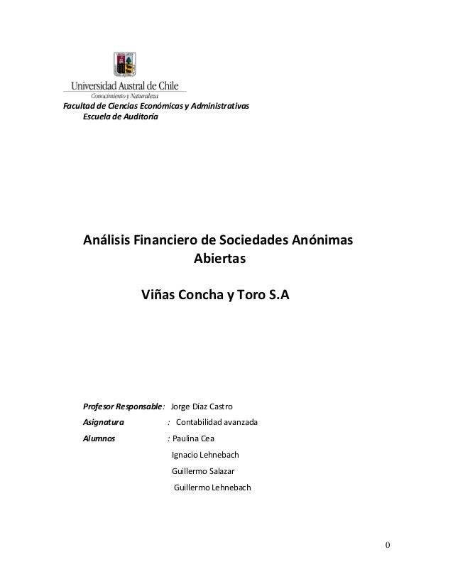 Facultad de ciencias econmicas y administrativas concha y toro